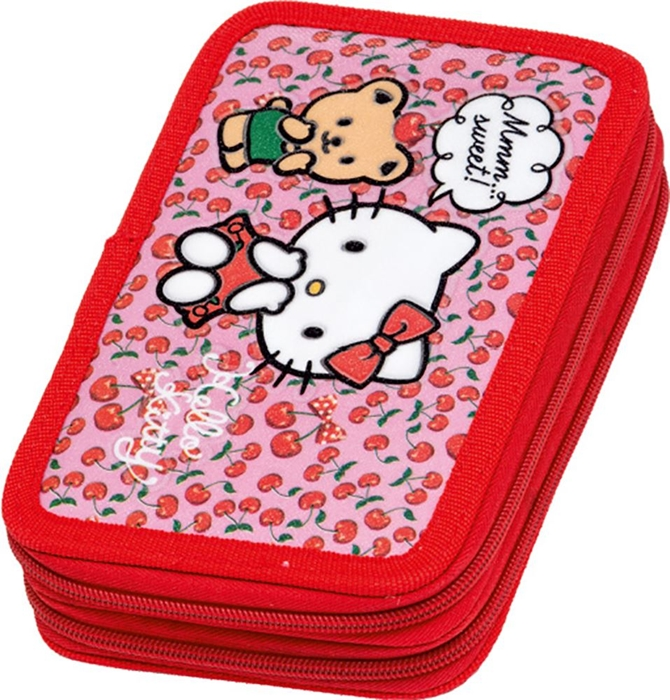 Picture of HELLO KITTY double tier filled pencil case