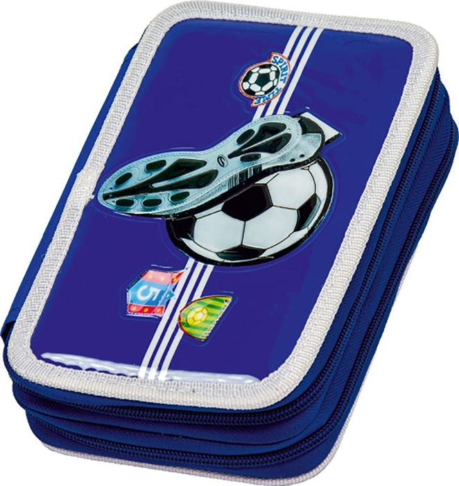 Picture of FOOTBALL double tier filled pencil case