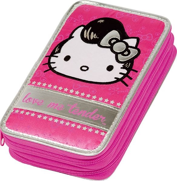 Picture of HELLO KITTY LOVE ME TENDER etui 2 zip s priborom