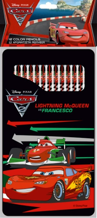 Picture of CARS RACING TEAM colored pencils in metal box