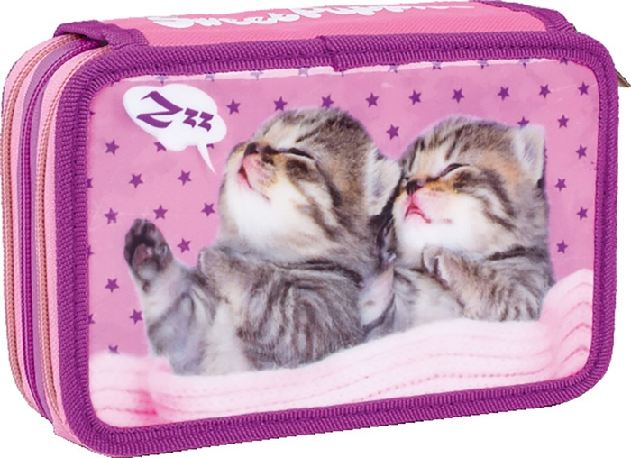 Picture of SWEET PUPIES triple filled pencil case
