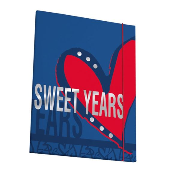 Picture of SWEET YEARS HEARTS fascikl A4 s gumicom 26x36 cm