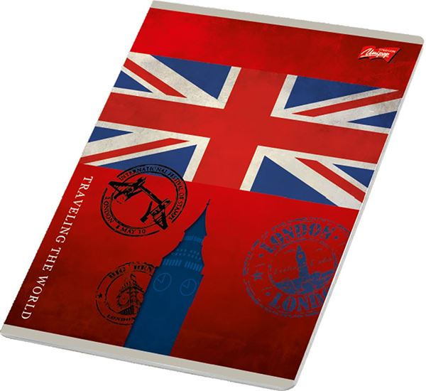 Picture of TRAVEL A4 notebook plain paper 1-12