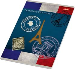 Picture of TRAVEL A4 notebook grid paper 1-12