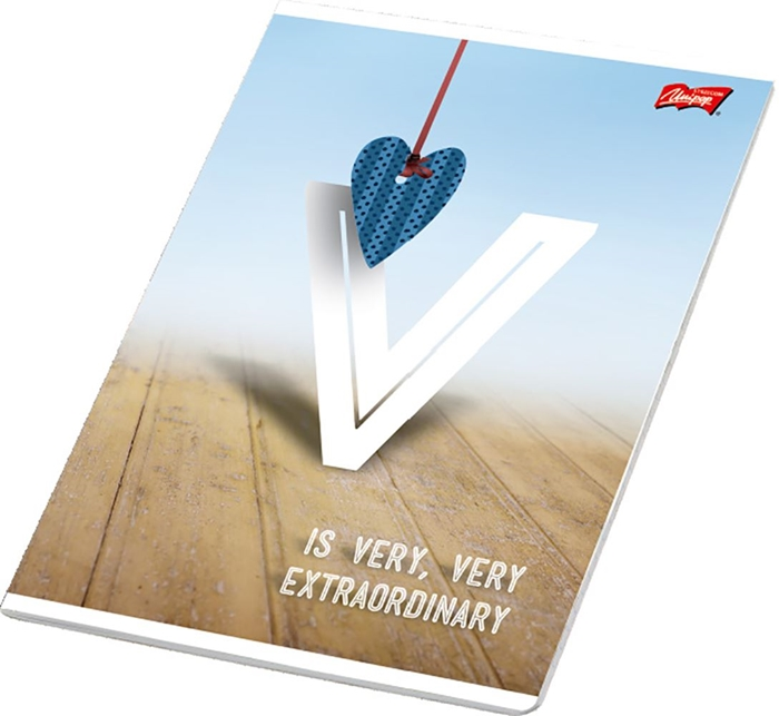 Picture of LOVE A4 notebook plain paper 1-12