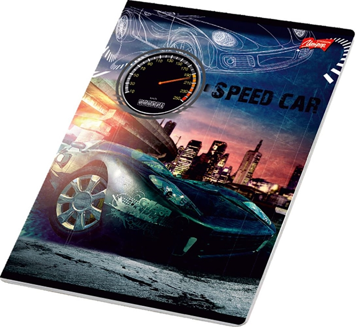 Picture of SPEED CAR A4 notebook line paper 1-12