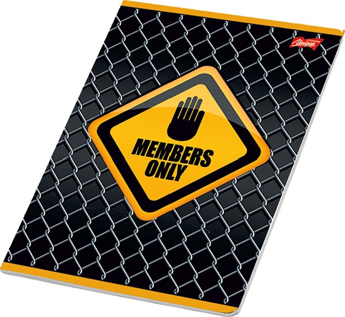 Picture of WARNING A4 notebook grid paper 1-12