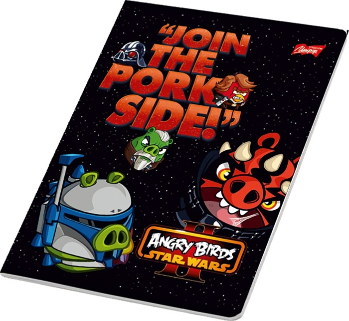 Picture of ANGRY BIRDS A4 notebook grid paper 1-12