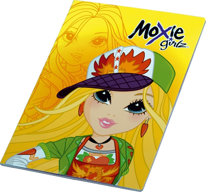 Picture of MOXIE GIRLZ A4 notebook grid paper 1-12