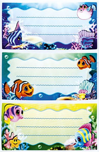 Picture of SCHOOL LABELS blister 9 pcs - shop box 48 pcs