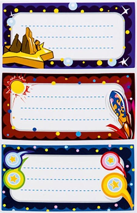 Picture of SCHOOL LABELS blister 9 pcs - shop box 48 pcs