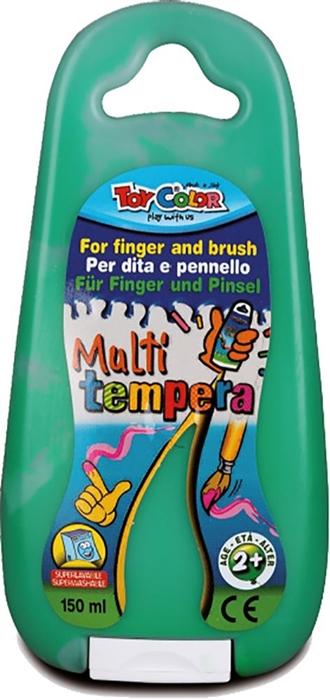 Picture of TOY COLOR finger and brush tempera 150 ml - green