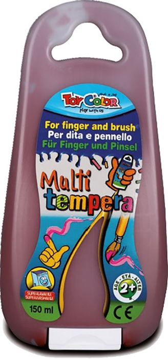 Picture of TOY COLOR finger and brush tempera 150 ml - brown