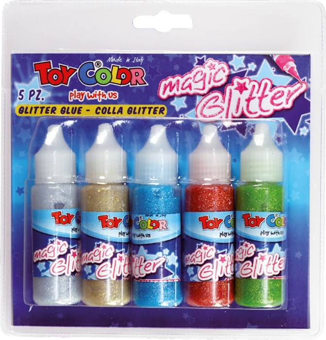 Picture of TOY COLOR magic glitter glue 25 ml - blister 5 pcs