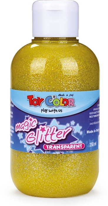 Picture of TOY COLOR glitter color 250 ml - yellow