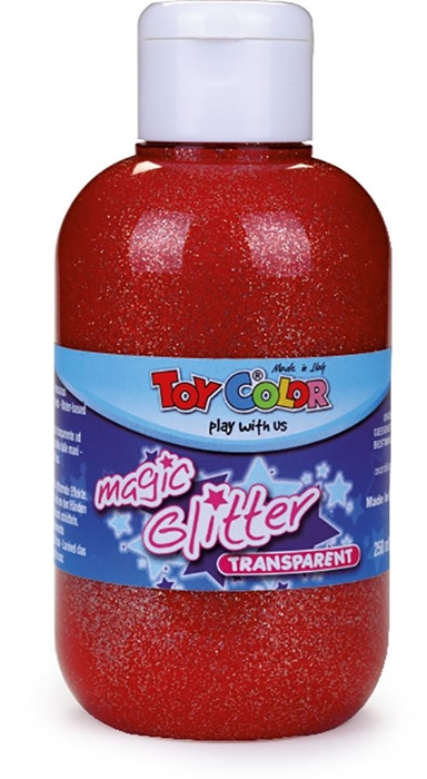 Slika od TOY COLOR glitter boja 250 ml - crvena