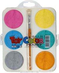Picture of TOY COLOR watercolor 1-6 pearl effect-diameter 57 mm