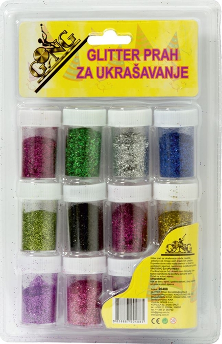 Picture of GLITTER powder for decoration - set 12 bottle