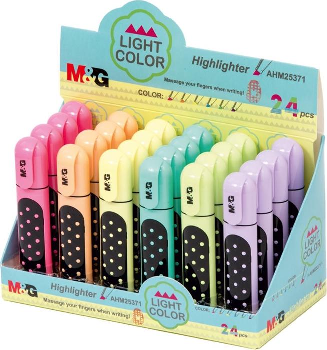Slika od M&G FLUO MARKER Light color fluo – izložbeni stalak 24 kom