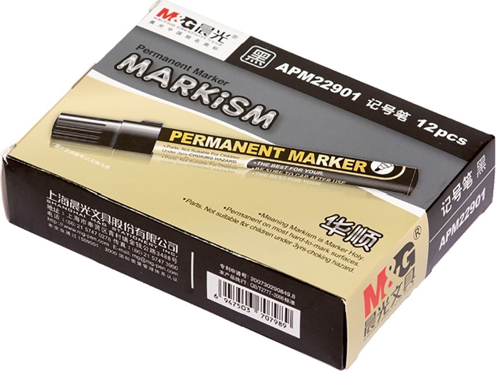 Picture of M&G PERMANENT MARKER round top – black 1-12