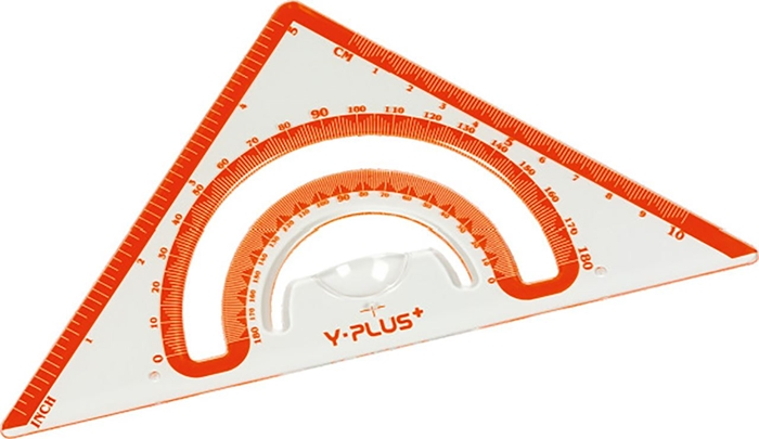 Picture of RULER + Protractor Shell 15 cm