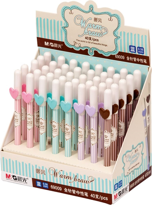 Picture of GEL PEN Hearts – top of 0.38 mm – exhibition stand 1-40
