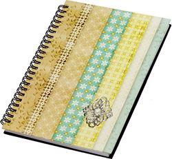 Picture of SPIRAL NOTEBOOK cardboard crust A5 line paper-80 sheets, 3D details