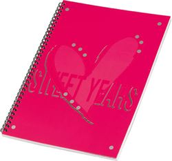 Picture of SWEET YEARS HEARTS spiral notebook A4 line paper – 60 sheets