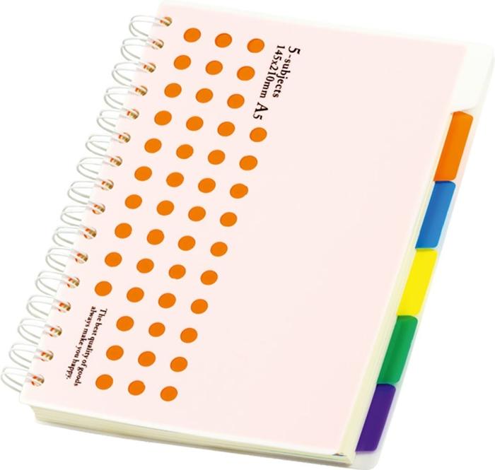 Slika od SPIRALNA bilježnica – A5 crte, 5 odjeljaka, 150 listova