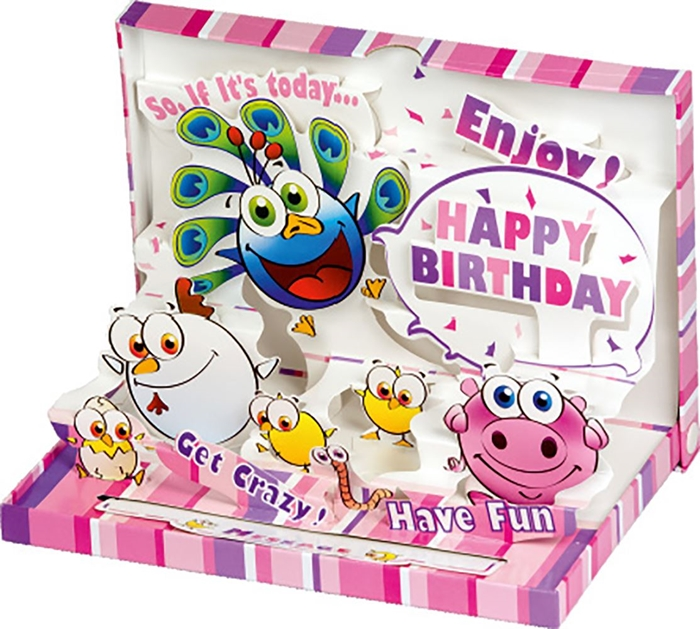 Picture of 3 D CARD Is today your birthday?