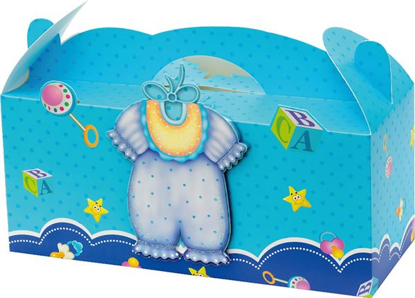 Picture of GIFT BOX folding baby glitter 3D 31,2x12x13,8 cm