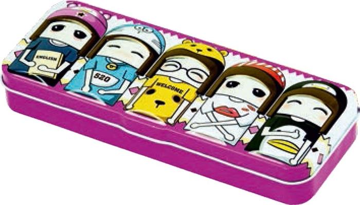 Picture of METAL PENCIL CASE Happy face 21x8,2x3,2 cm