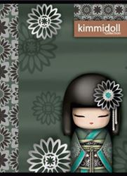 Picture of KIMIDOLL A4 notebook grid paper, UV or glitter details
