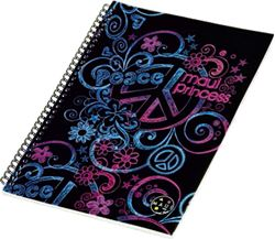 Slika od MAUI PRINCESS spiralna bilježnica – A4 crte – 80 listova