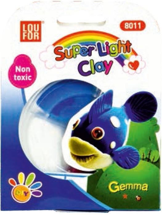 Slika od PLASTELIN super light – čašica s 4 boje – blister pakiranje