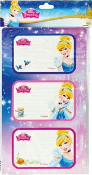 Picture of PRINCESS stickers blister 12 PCs