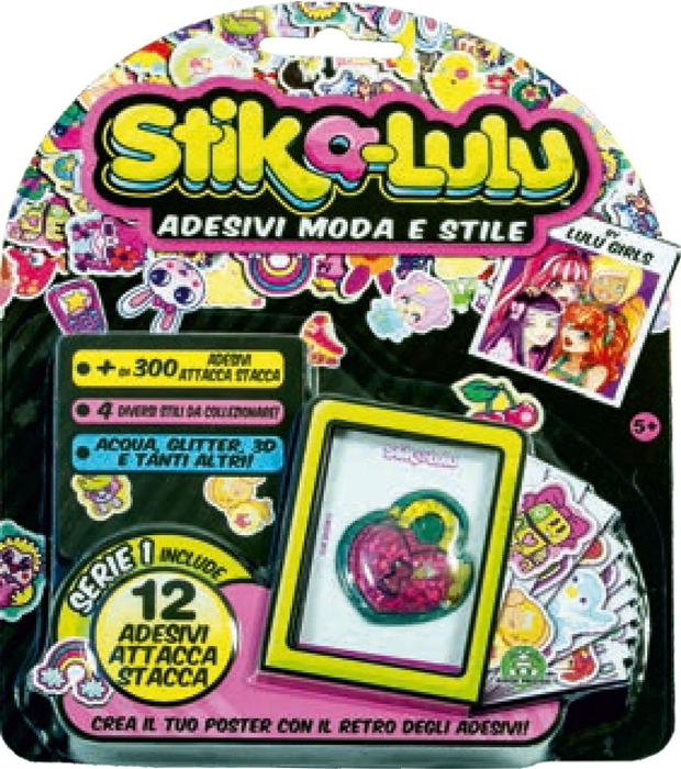 Picture of STICK-A-LULU blister 8 piece sticker + metal boxes