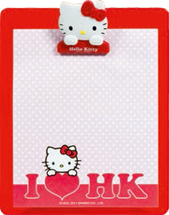 Picture of HELLO KITTY base plate with block of 50 sheets