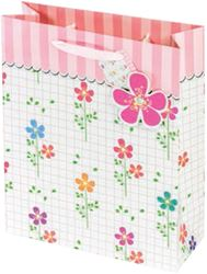 Picture of DECORATIVE BAG flower power large 42x30x12 cm