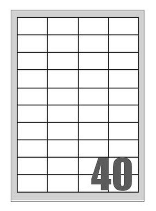 Slika od SAMOLJEPLJIVE etikete Megastar  48,5x25,4 mm – 60 na listu