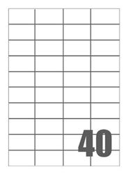 Picture of Self-adhesive labels Megastar 52x30 mm – 40 per sheet