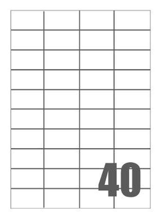 Slika od SAMOLJEPLJIVE etikete Megastar 52x30 mm – 40 na listu