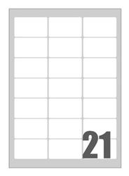 Picture of Self-adhesive labels Megastar 63,5x38,1 mm – 21 per sheet