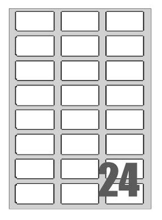Slika od SAMOLJEPLJIVE etikete Megastar 64x34 mm – 24 na listu