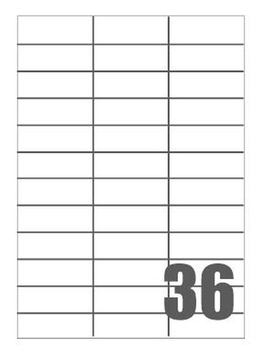 Picture of Self-adhesive labels Megastar 70x25 mm – 36 per sheet