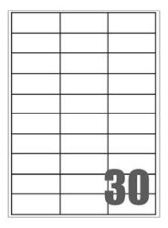 Picture of Self-adhesive labels Megastar 70x29,7 mm – 30 per sheet