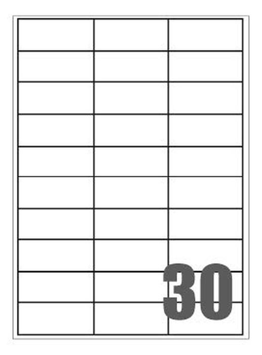 Picture of Self-adhesive labels Megastar 70x29,7 mm – 30 per sheet