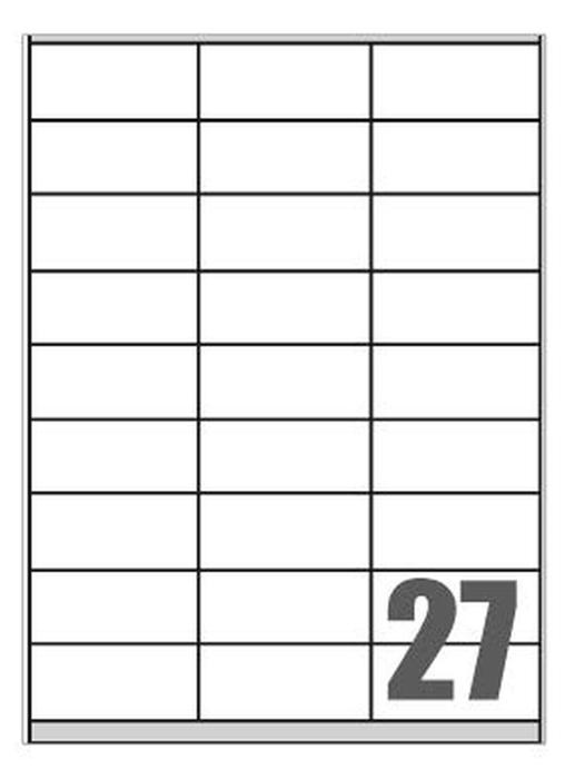 Picture of Self-adhesive labels Megastar 70x32 mm – 27 per sheet