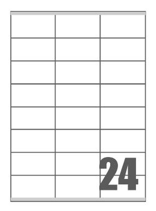 Picture of Self-adhesive labels Megastar 70x36 mm – 24 per sheet