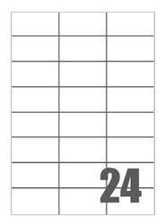 Slika od SAMOLJEPLJIVE etikete Megastar 70x37 mm – 24 na listu